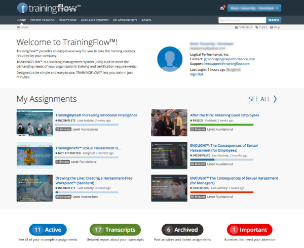 TrainingFlow - Logical Performance LMS